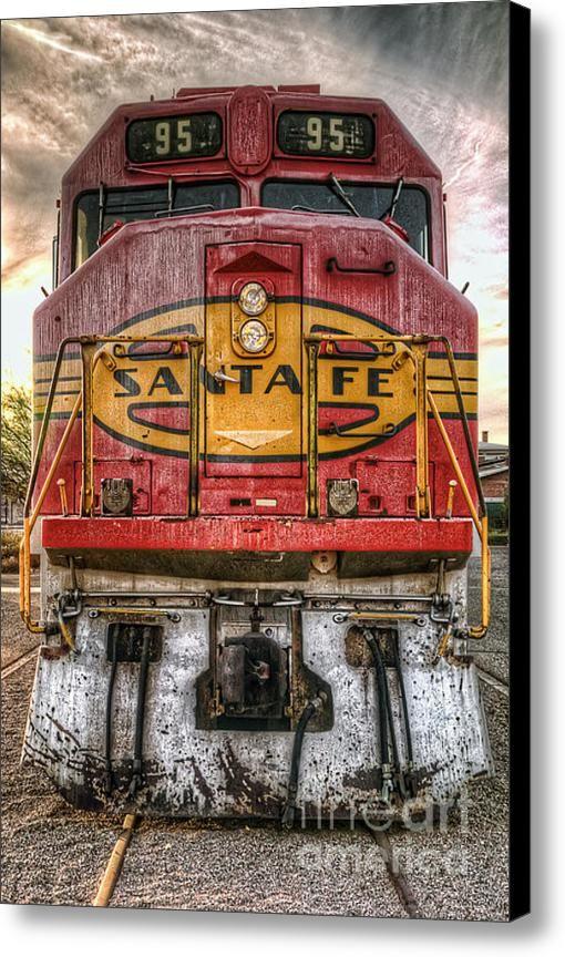 Canvas Santa Fe >> Old Santa Fe Engine Canvas Print In 2019 Around The Kitchen