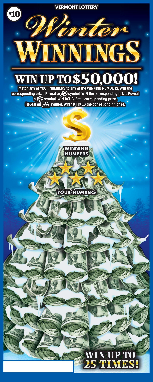 10 Winter Winnings Lottery, Winning numbers, Winter