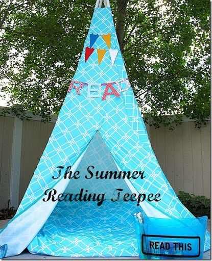 Make a Summer Reading Tent/Teepee!! {tutorial} images