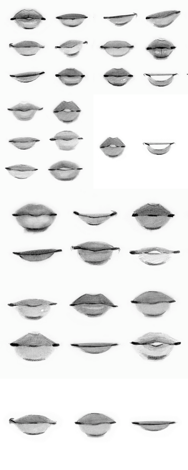 These are some mouth references from a class by gabrielle decesaris
