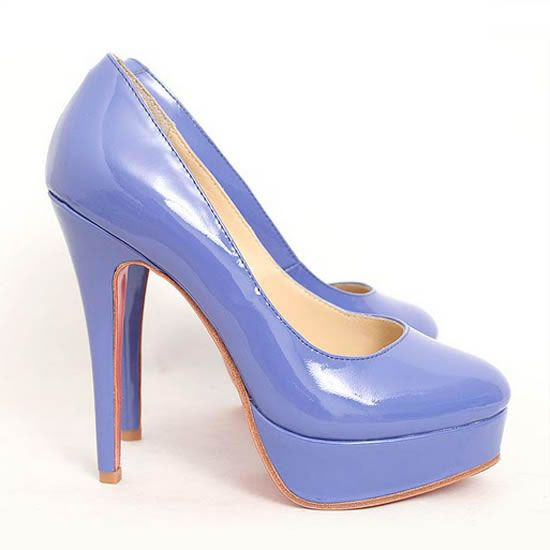 Sexy Christian Louboutin Bianca 140 Patent Leather Pumps Purple For Cheap Clearance Sale Amazing | Christian Louboutin Discount Shoes Sale