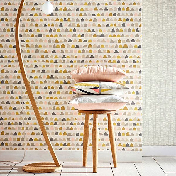 Priya Blush Kitchen Wallpaper Wallpaper Decor Retro Wallpaper