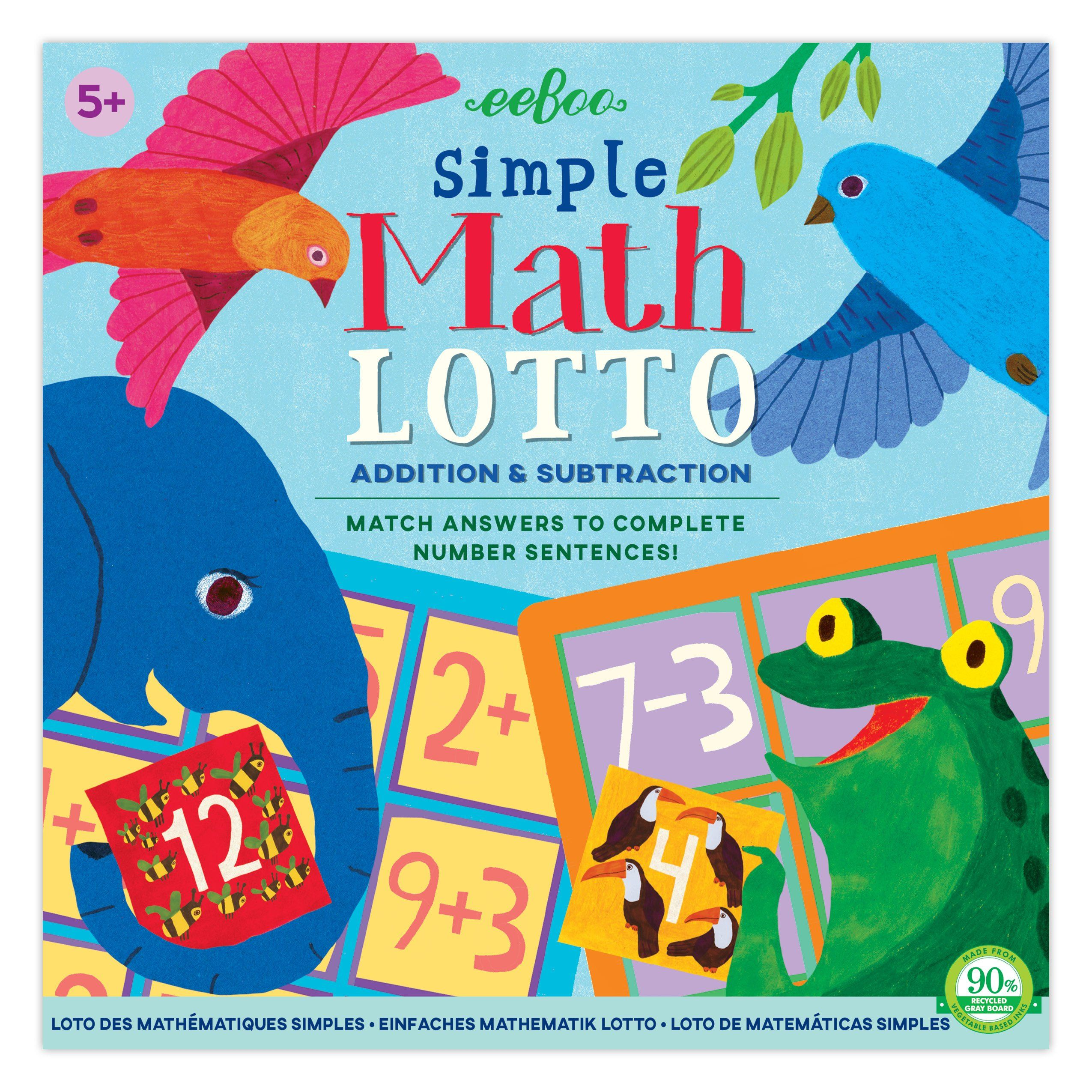 Simple Math Bingo Simple Math Math Bingo Lotto Games