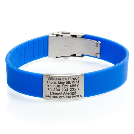 Id Bracelets For Men Rubber Personalized By Icetagsid Braceletsbracelets Menpersonalized Braceletsspecial Needs