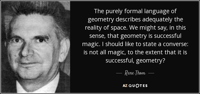 Rene Thom Quote Formal Language Quotes Rene
