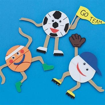 Team sports magnets craft kit sport craft magnets and craft for Craft kits for preschoolers