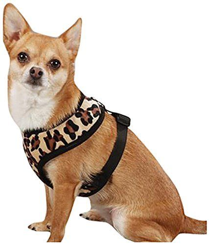 East Side Collection Polyester Plush Leopard Print Dog Harness