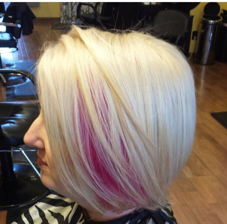 Really Want Platinum Blonde With Pink Green Peekaboos Pink Blonde Hair Cute Blonde Hair Platinum Blonde Hair