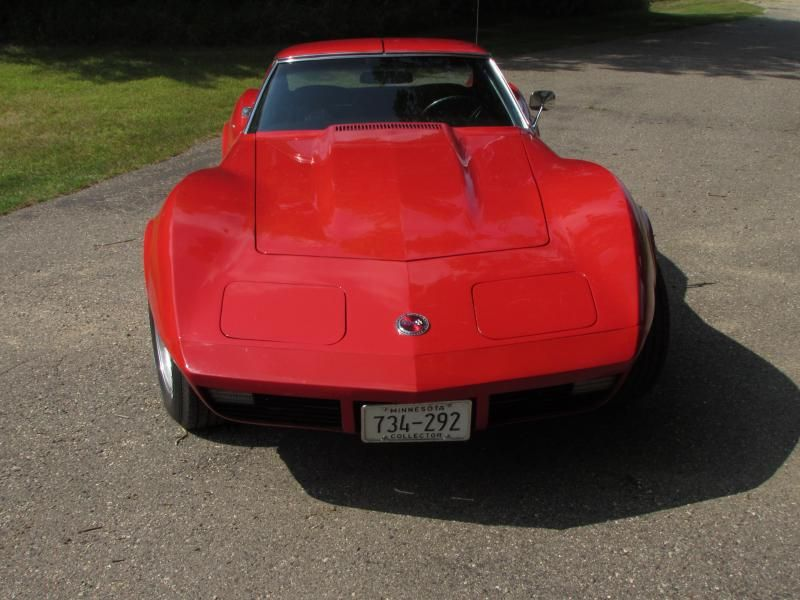 For Sale 1974 Corvette T Top Automatic Red Exterior Black Gray