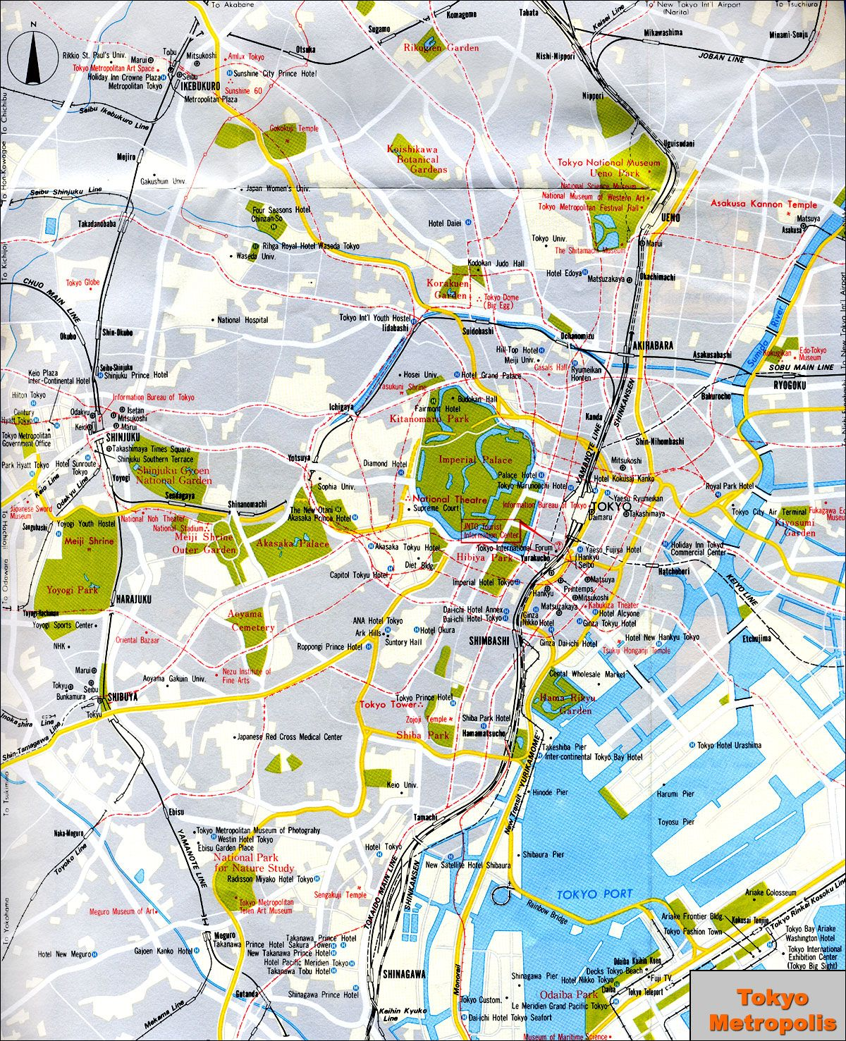 Tokyo Japan Tourist Map