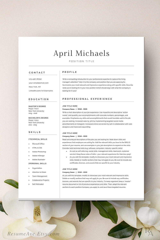 Modern executive resume template cv template / resume