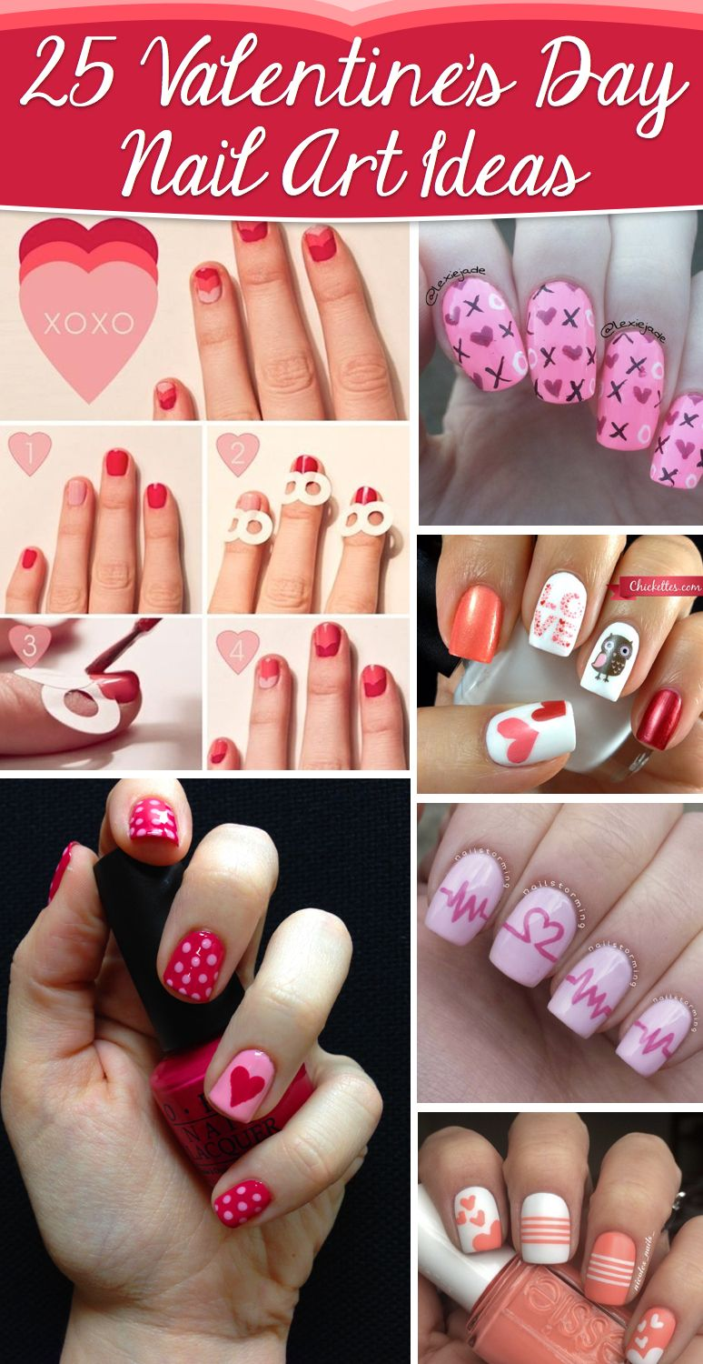25 Valentine S Day Nail Art Ideas Working As A Wonderful Reminder Of Love Cute Diy Projects Valentines Nail Art Designs Valentine Nail Art Valentine S Day Nails
