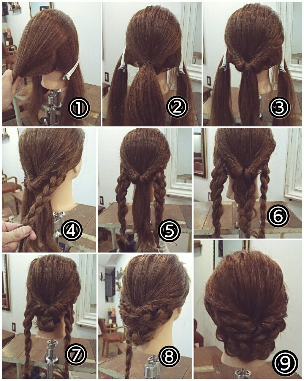 Braided Updo  braids  Pinterest  Updo Hair style and Updos