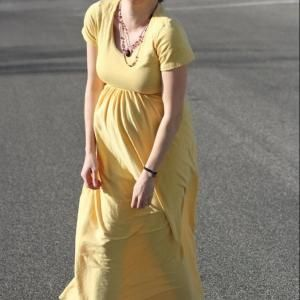 5aeb9ab4ff4c6 Easy Maxi Dress - free sewing patterns - Maternity Clothes ...