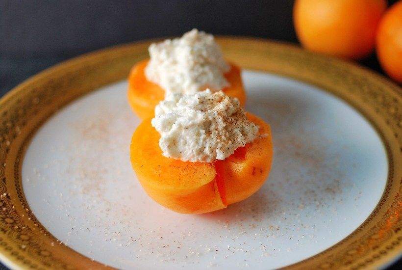 Delicious Stuffed Apricots with Sweet Ricotta!