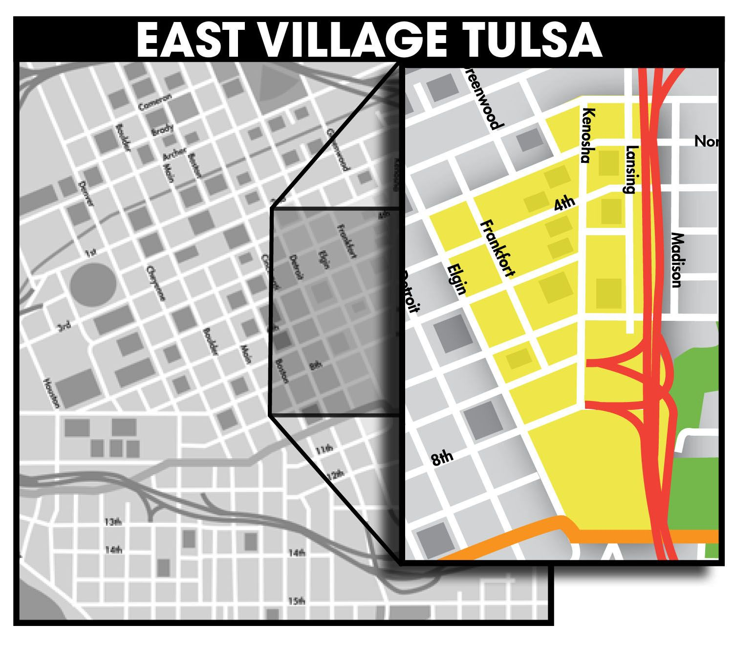 East village boundaries are approximately from 11th street