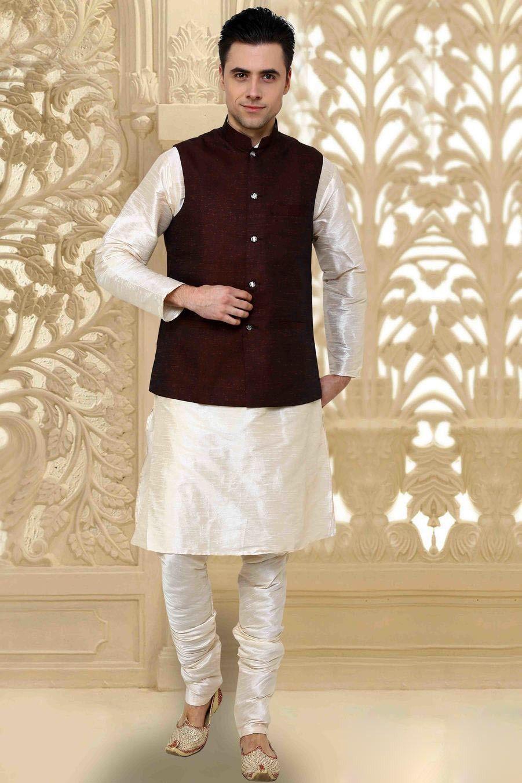 kurta pajama with jacket Google Search Mehndi dress