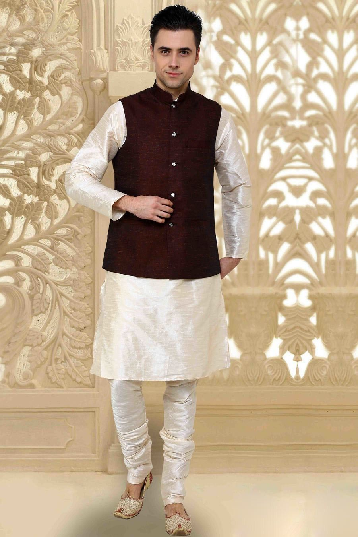 Kurta Pajama With Jacket Google Search Indian Wedding Wear