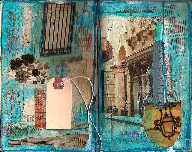 Yes, maybe art journals don't always need words. great colors!