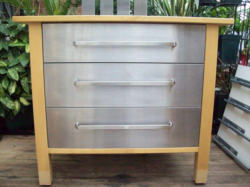 Kitchen Island Units Ikea ikea varde kitchen freestanding 3 drawer /pan drawer unit | drawer