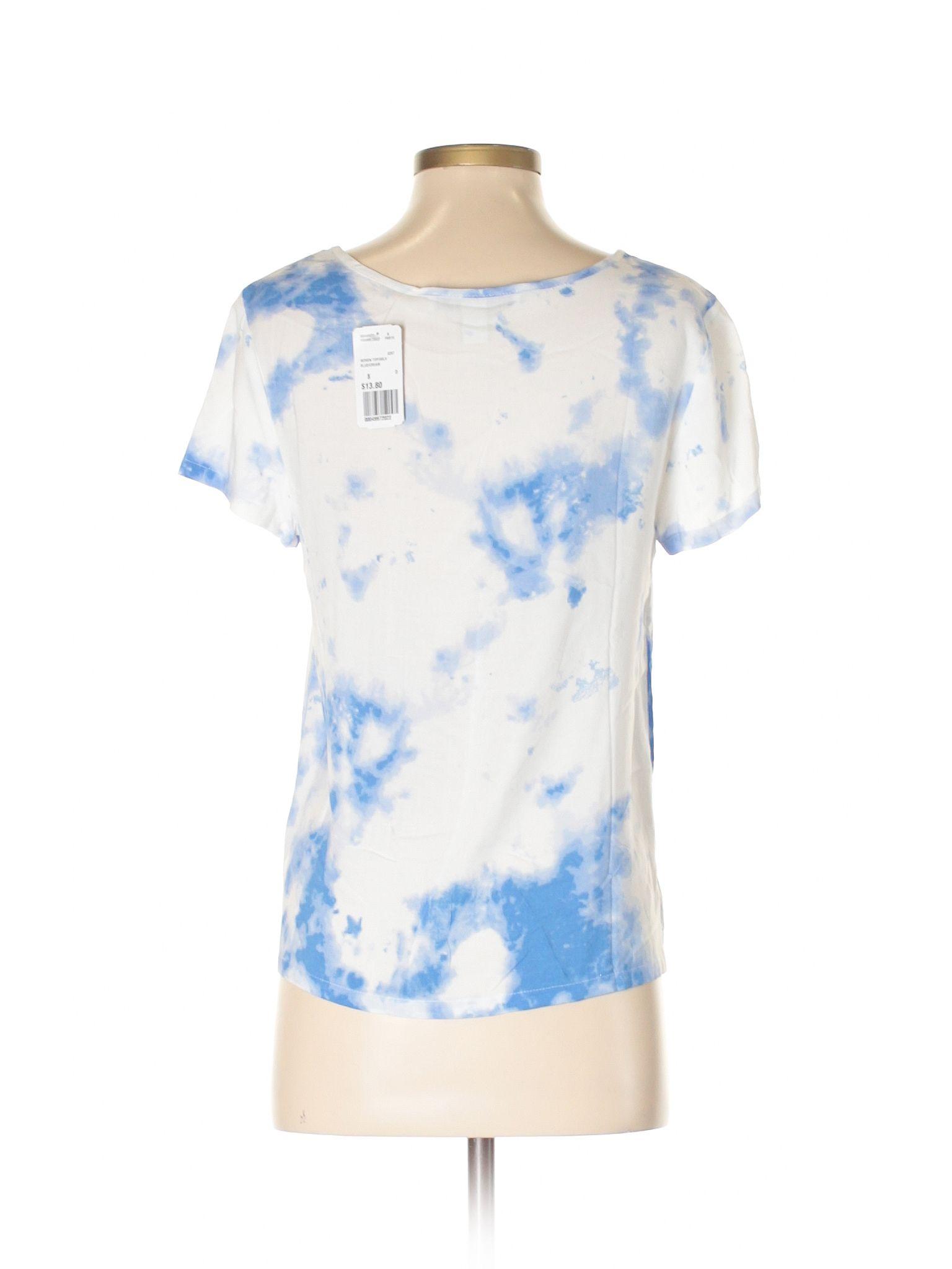 Forever Short Sleeve Blouse Size White Womenus Tops New