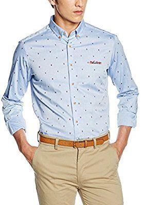 nueva alta calidad aliexpress 100% de satisfacción Spagnolo, Camisa Oxford Estampado Boton Slim 1125 - Camisa ...