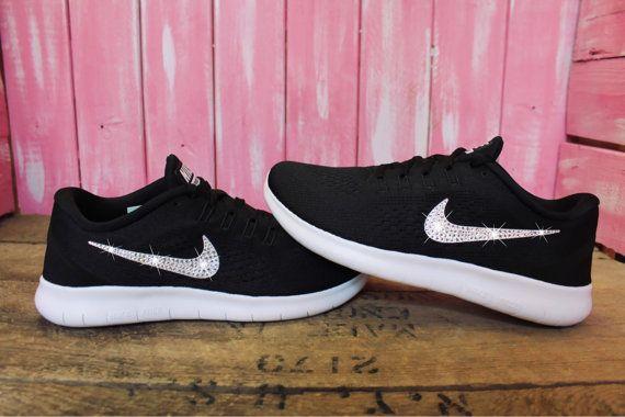 2016 Swarovski Nike Free RN Running Shoes Customized With by ShopPinkIvy |  Etsy