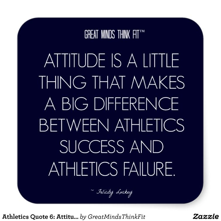 Athlete Quotes Stunning Athletics Quote 6 Attitude For Success Sticker  Pinterest