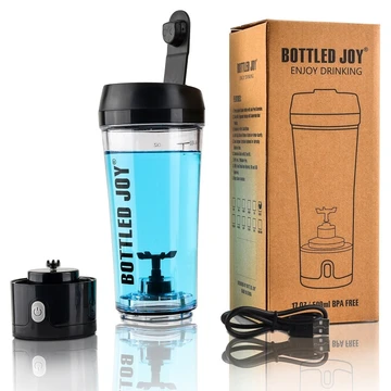 ELECTRIC  SHAKER BOTTLE Sports Drink Shaking Blender Rechargeable Black