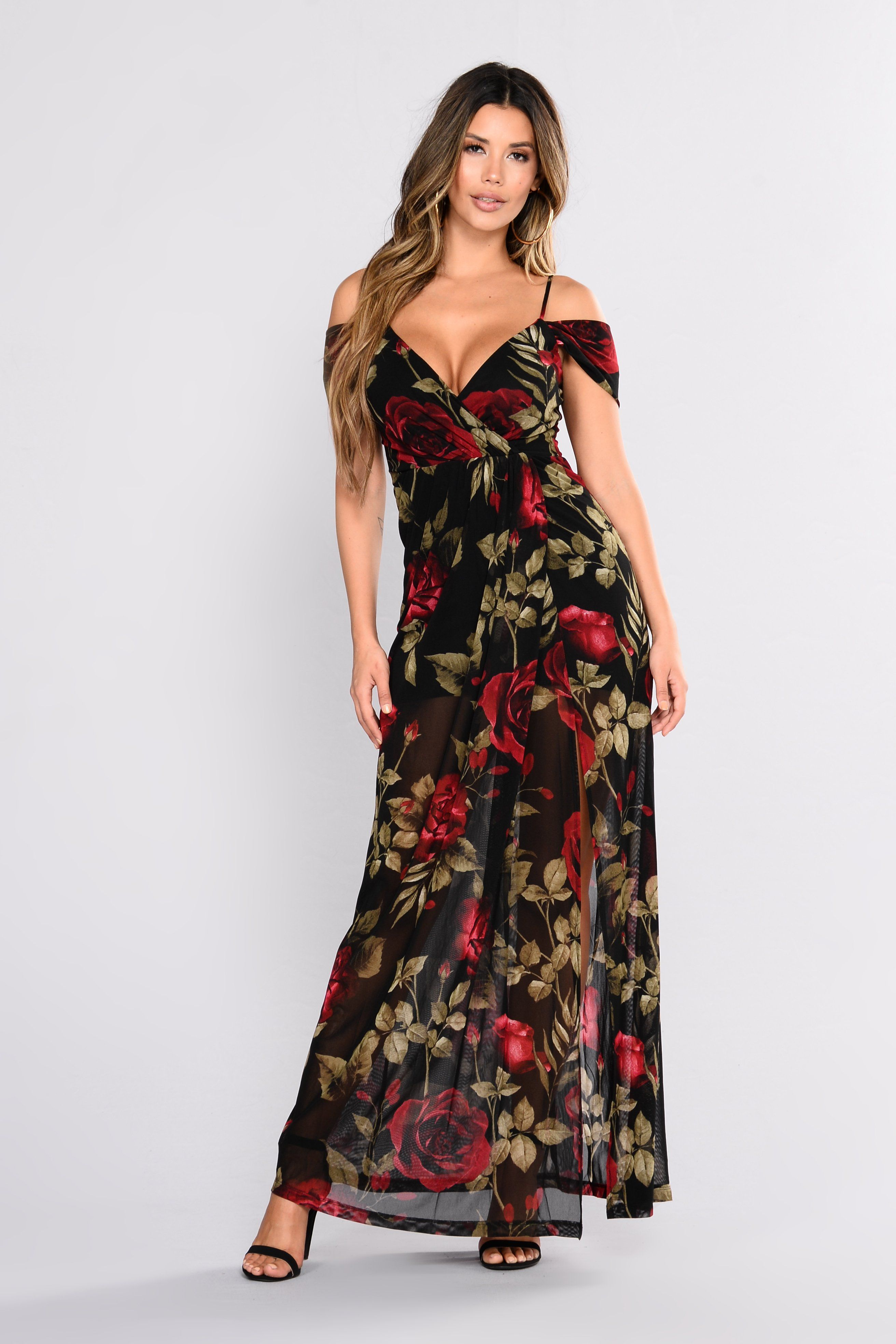 c20a607353 Ultimate Romance Floral Dress - Black Red