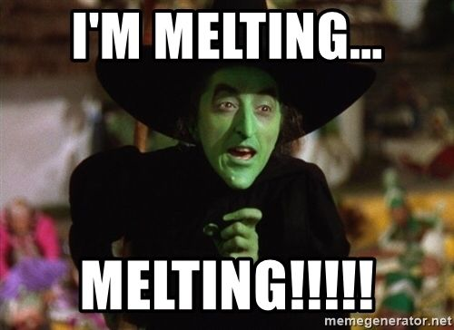 e1243e4028979121c870f3955d6fba61 i'm melting melting!!!!! wicked witch wizard of oz meme