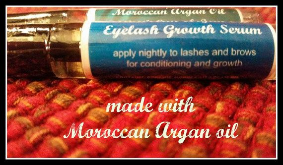 $11.99 ORGANIC EYELASH GROWTH Moroccan Argan Oil by BeeBlissfulBeauty