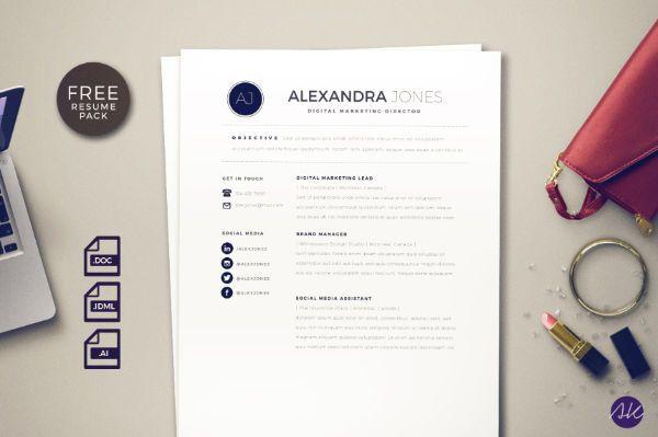 free resume template social media illustrator word indesign - indesign resume templates