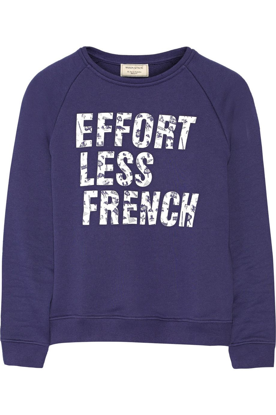 Maison kitsuné effortless french printed cottonterry sweatshirt
