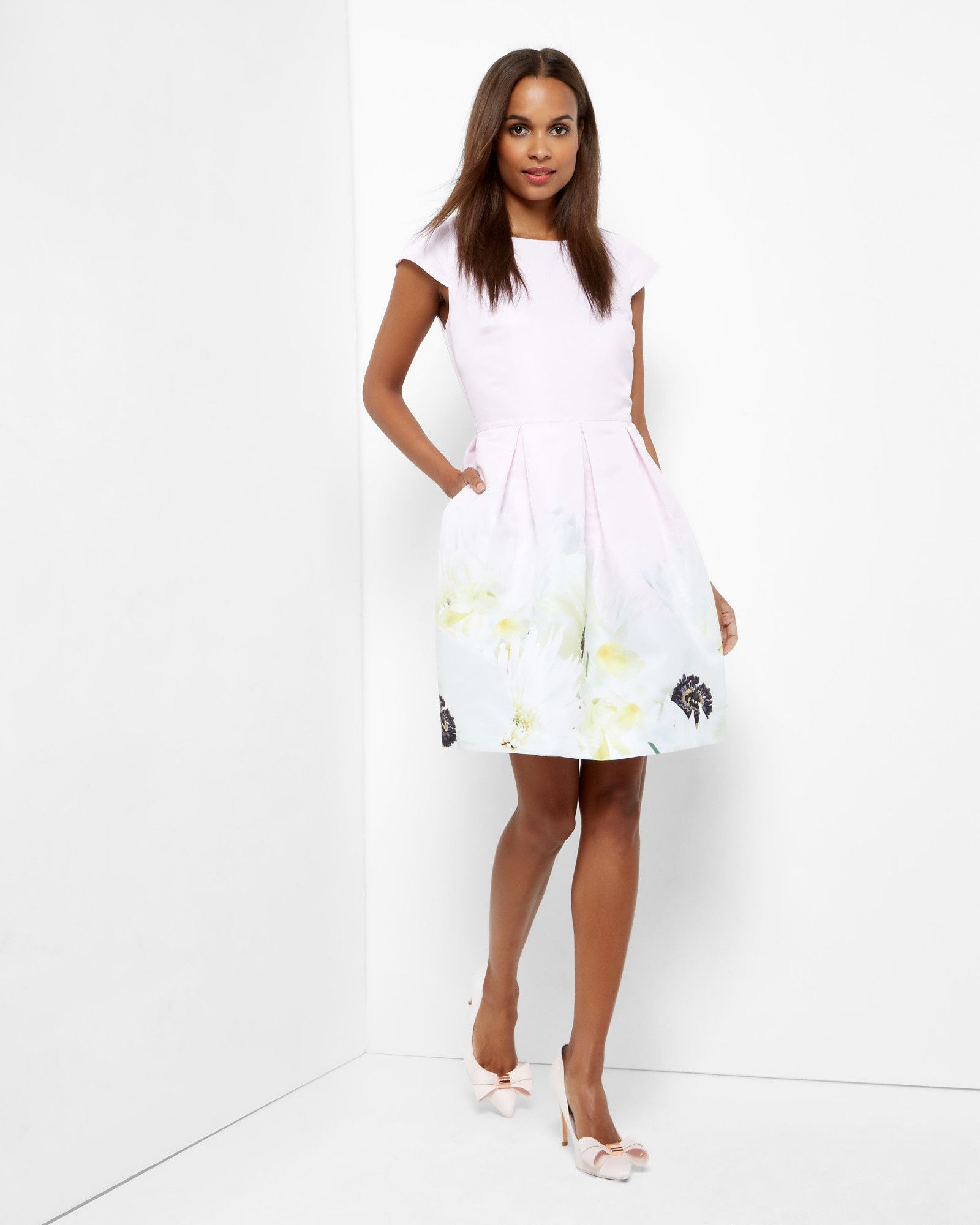 Dresses to wear to a wedding as a guest in summer  Ted Baker Pearly Petal pleated dress Pink  Products
