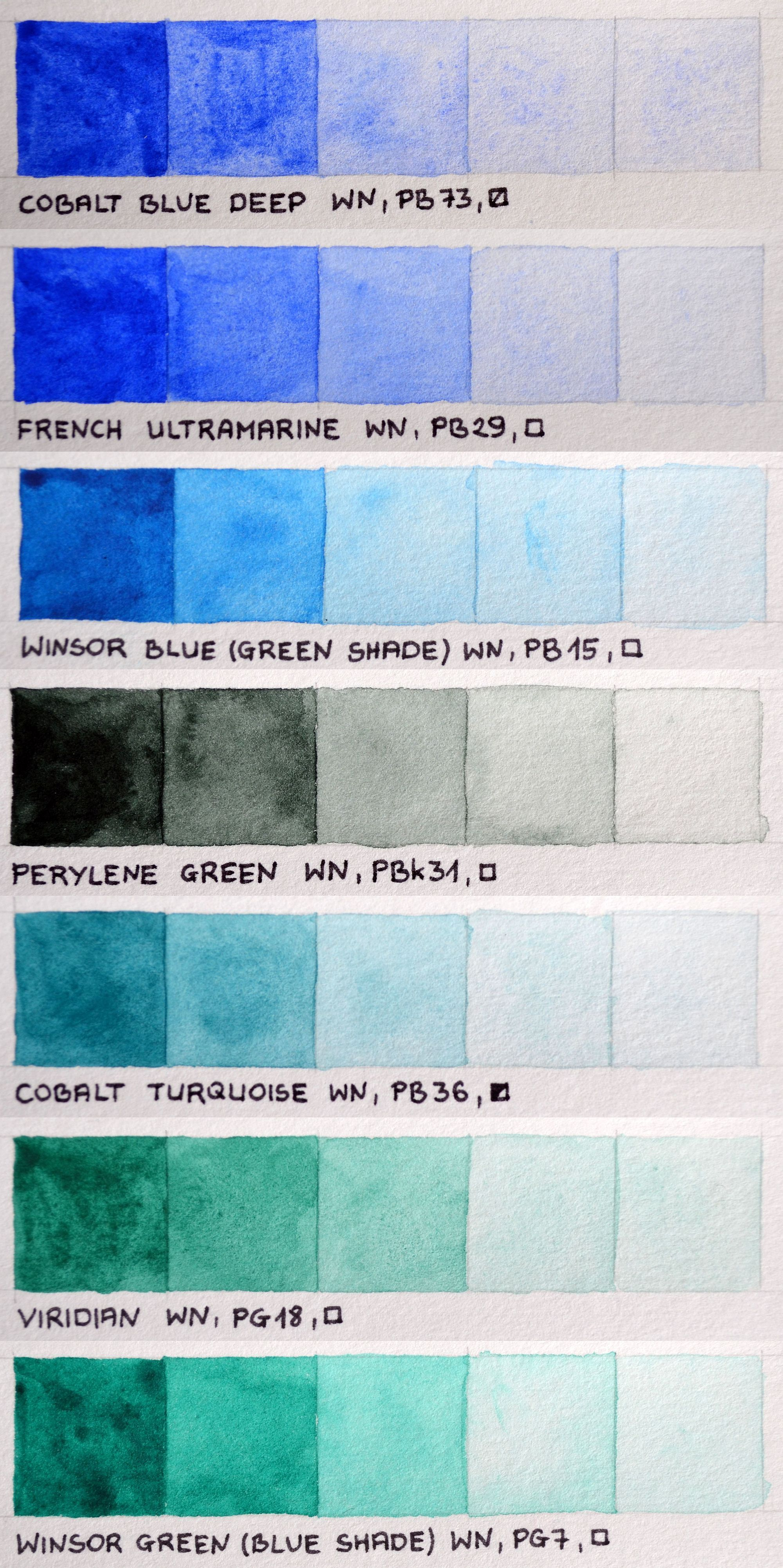 Http Www Artists Supplies Com Colour Charts Paint Colour Charts