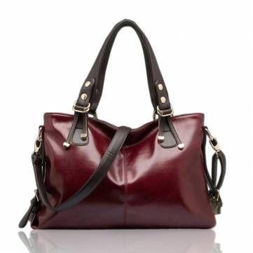 Women Handbag Burnished Leather Shoulder Bags Women Messenger Bags - US$25.99