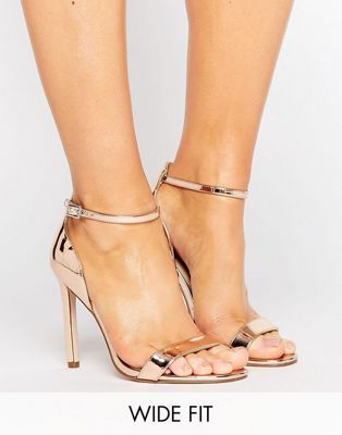8e11de7fc25 ASOS HANG TIME Wide Fit Barely There Heeled Sandals