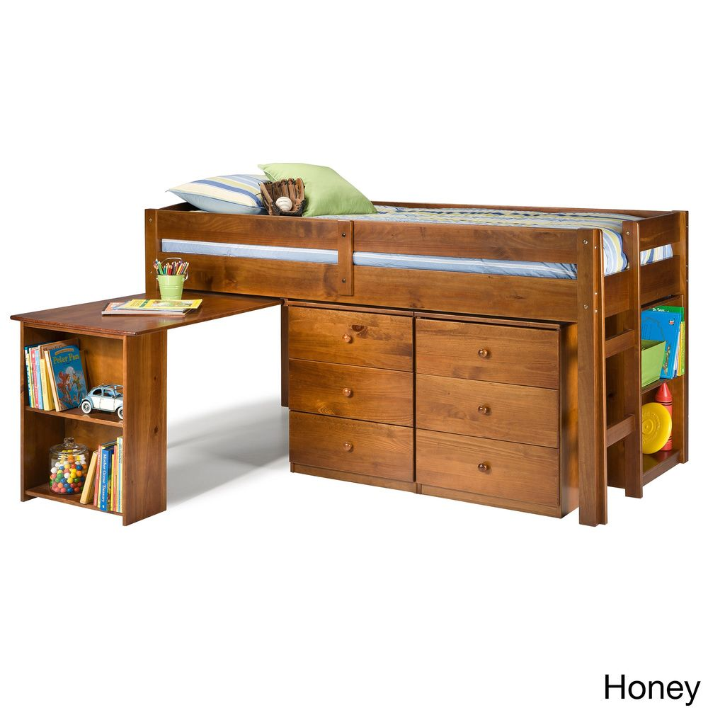 Napoli low loft twin bed with 6 drawer storage for Kids twin bed with drawers