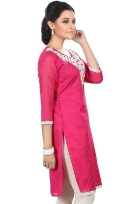 Product Code:PC586-032 | Pricing - Rs. 1,495.00 | Features - 3/4 Sleeve & Chanderi Silk