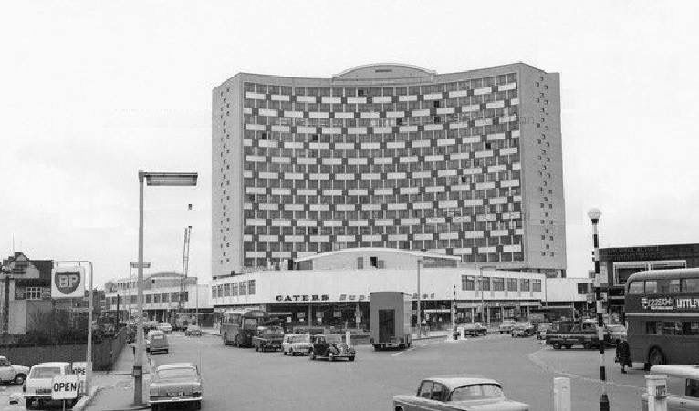 Crown House With Caters Supermarket Morden Surrey England Late 1960s