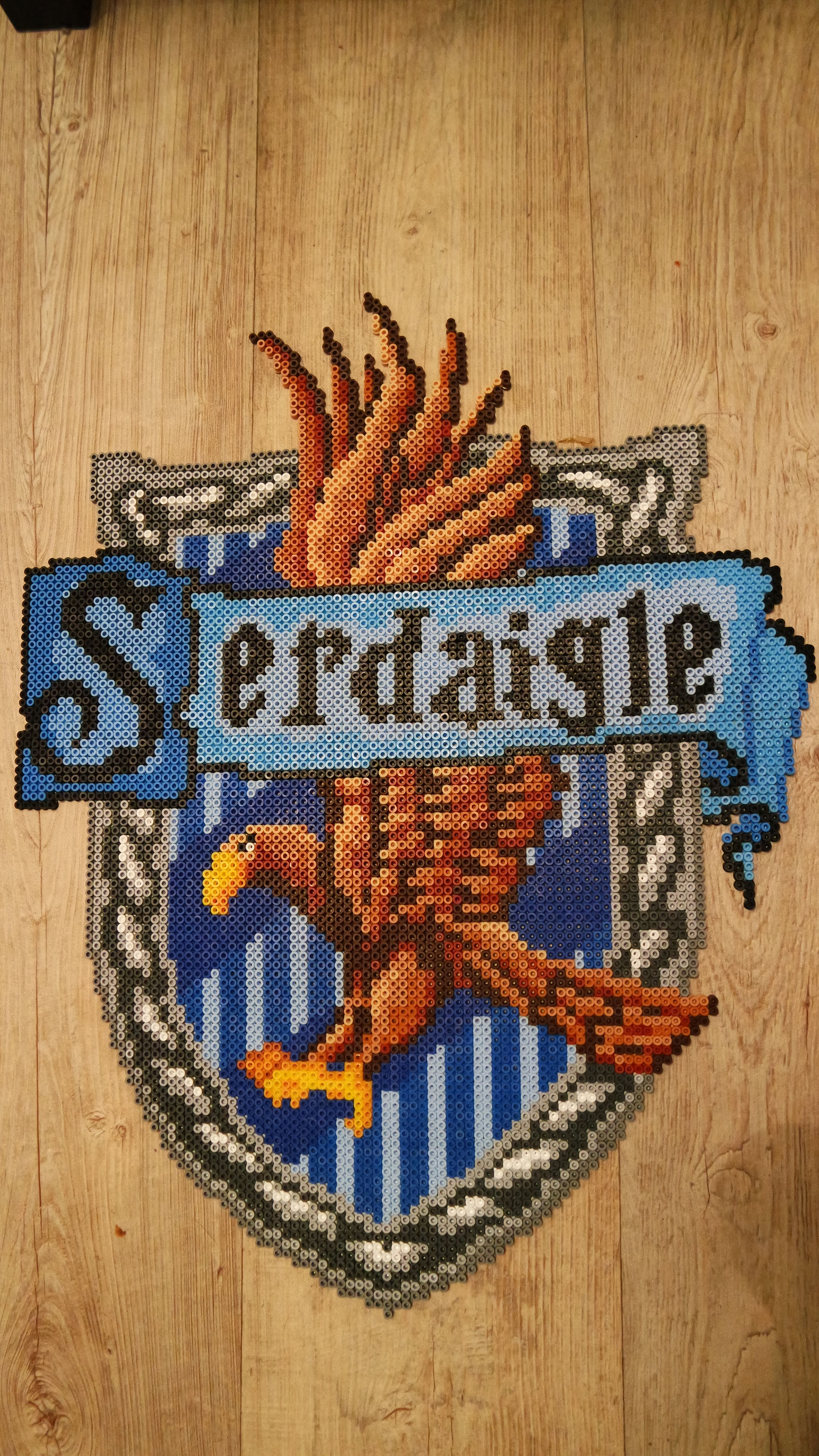 Blason de serdaigle ravenclaw 39 s crest harry potter perler beads by vicsene perler beads by - Harry potter blason ...