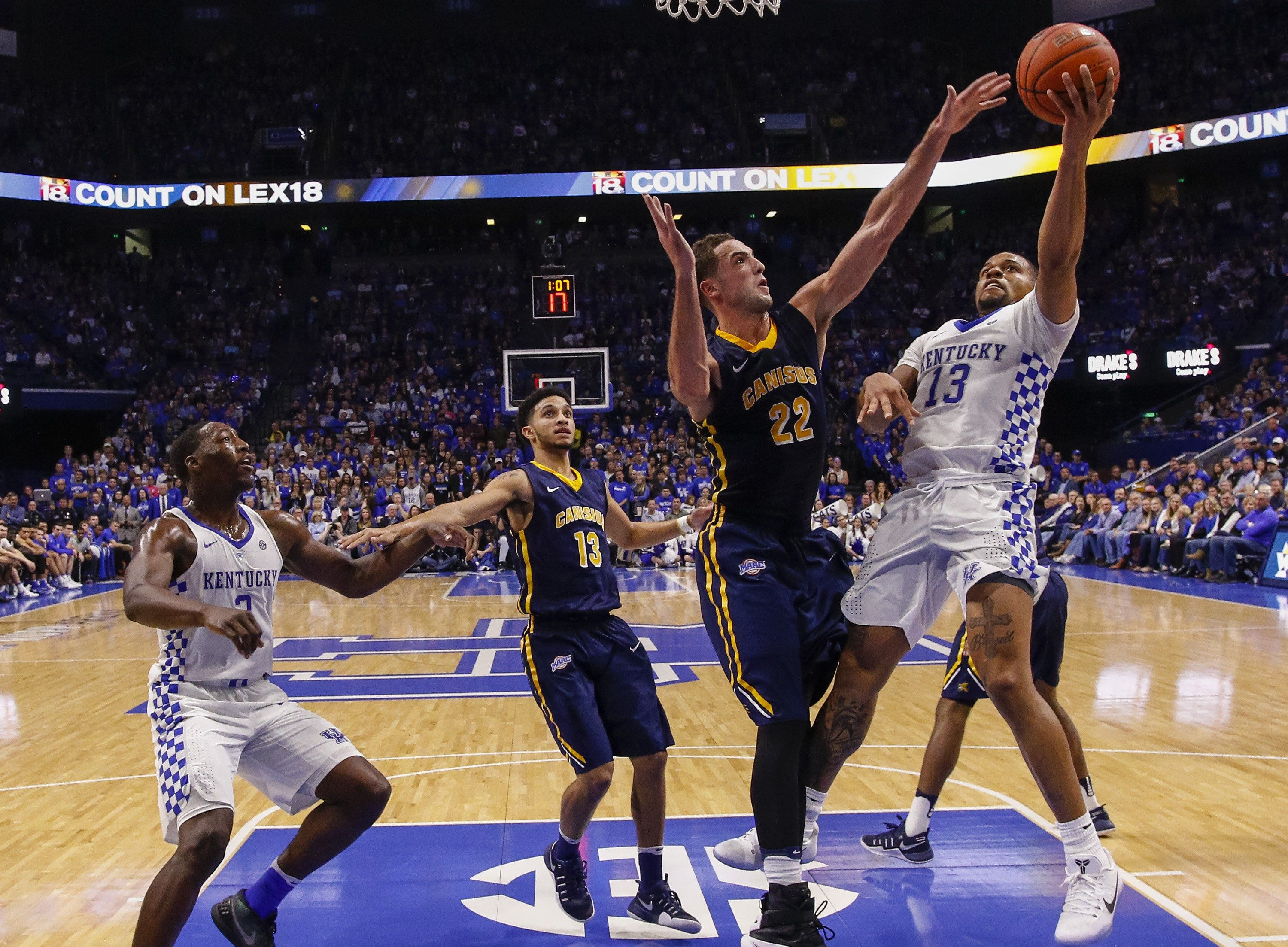 Canisius Hangs Tough Eventually Falls To 2 Kentucky Kentucky Ncaa Basketball Tough