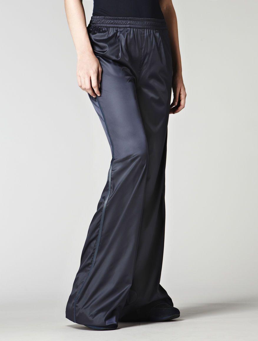 Wide black trousers, midnight blue - Max Mara
