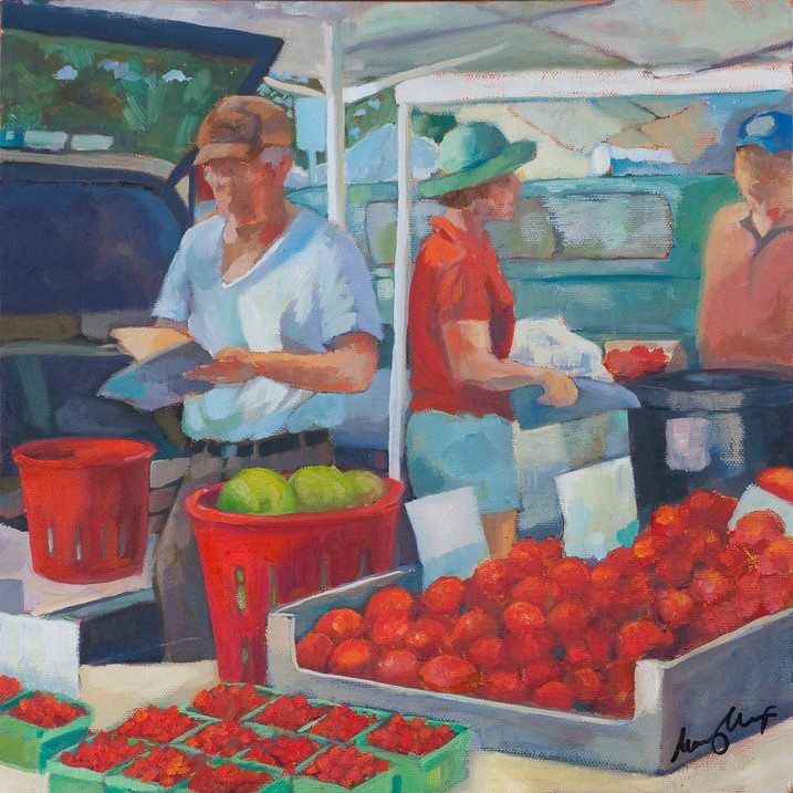 Market Series by Mary Michaela Murray of Charlottesville