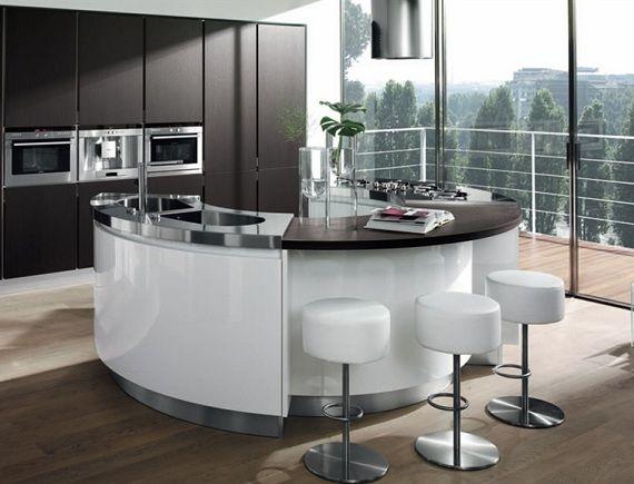 runde k cheninsel schwarz wei von salvarani kitchen designs in 2018 pinterest runde. Black Bedroom Furniture Sets. Home Design Ideas