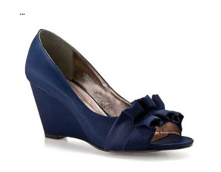 Greatest Look Of Fashion And Outfits Blue Navy Wedge Wedding Shoes 2017