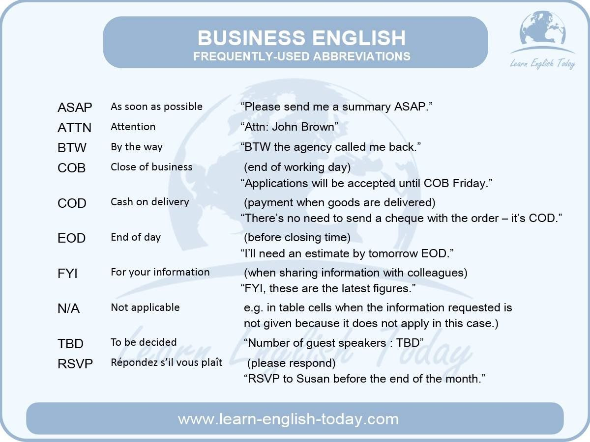 Learn business language