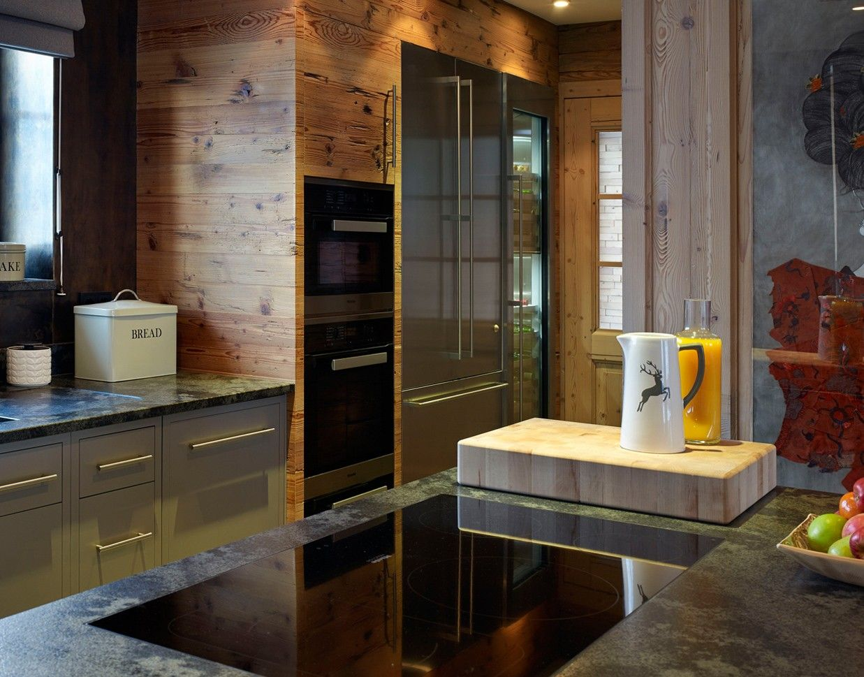 Completed in December 2013, this luxury kitchen project was for a kitchen in a private client's chalet in the Austrian Tyrol.
