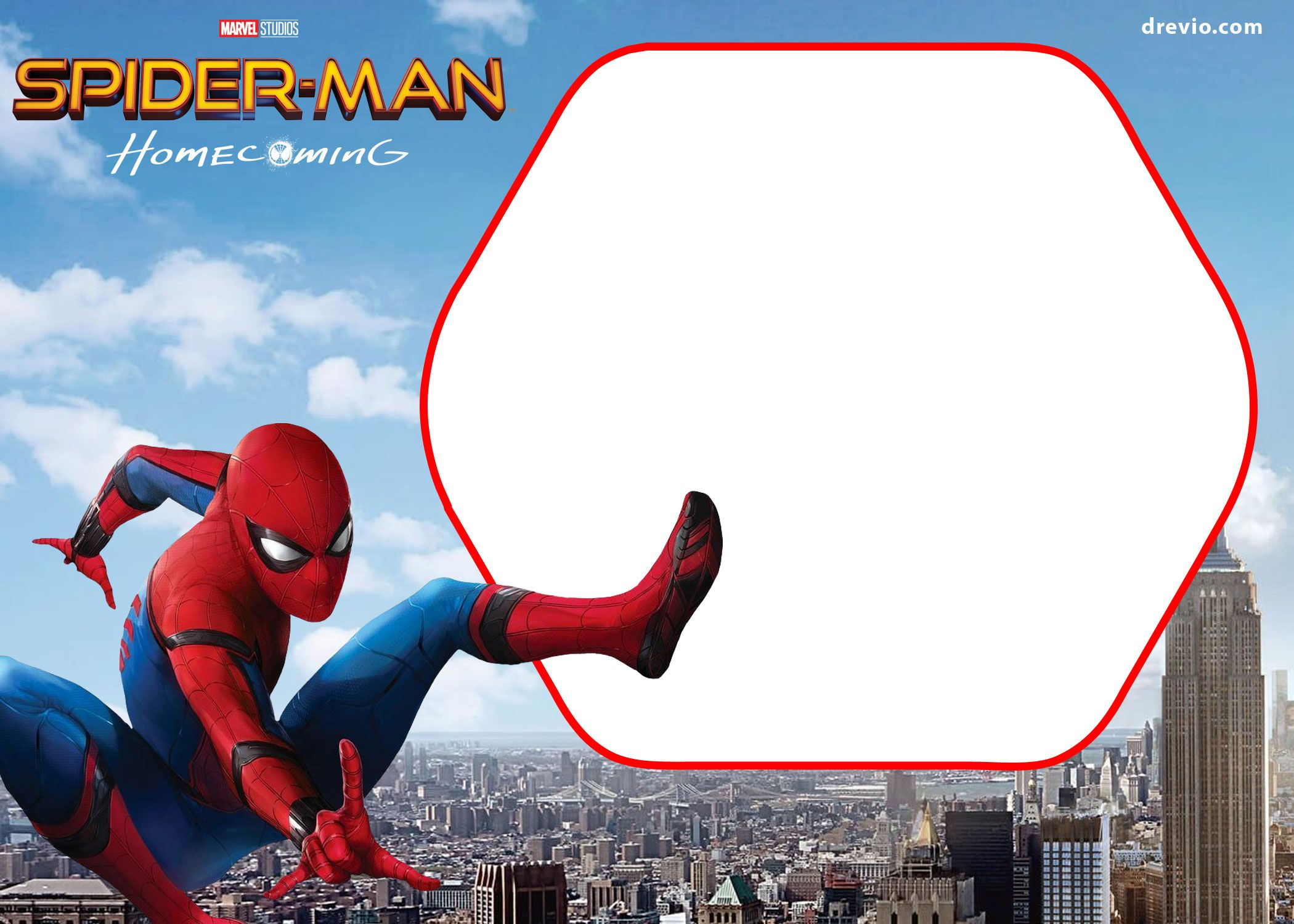 Cool Free Spiderman Homecoming Invitation Template
